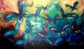 Metamorfosis en azul de la alegría by
