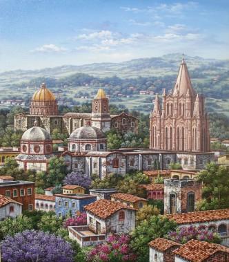town-with-churches by Arturo Zarraga