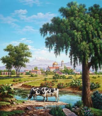 cows-in-volcanic-landscape by Arturo Zarraga