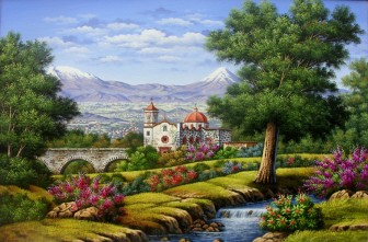 volcanoes-acqueduct-church-and-stream by