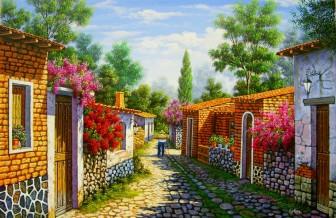 cobbled-village-street by Arturo Zarraga