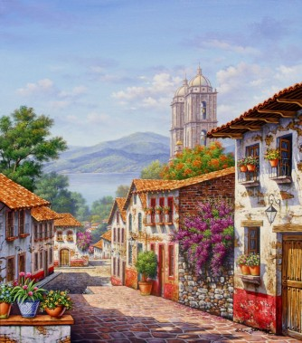 lake-view-from-town by Arturo Zarraga