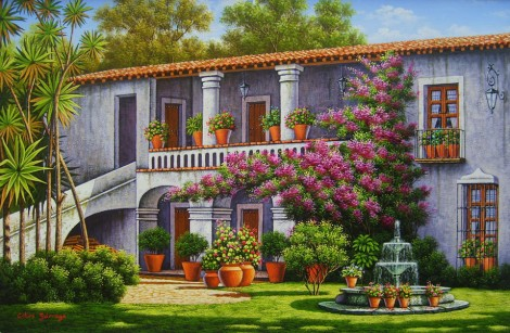 Spanish-colonial-house-with-balcony