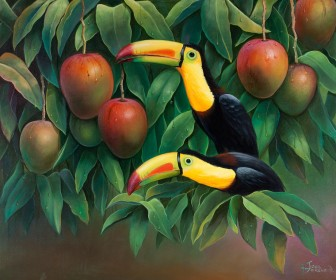 toucans-on-mango-tree by José Moreno Aparicio