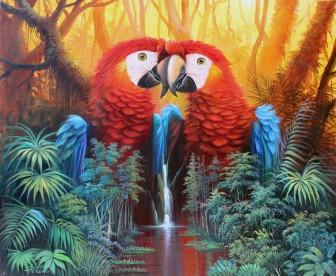 parrot-waterfall-fantasy by José Moreno Aparicio