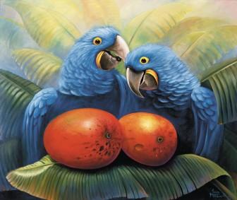 parrots-in-love by José Moreno Aparicio