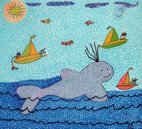 whale-with-sailboats