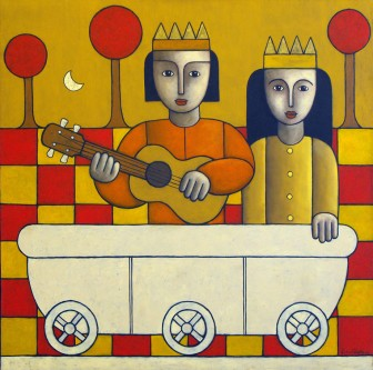 mythical-musicians-gui- tar-royalty by Víctor Peralta