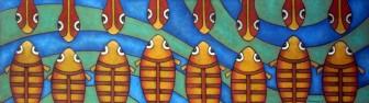 fish-meet-snakes by Víctor Peralta