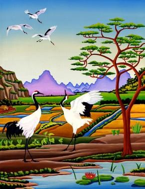 Jan's Cranes by Raúl del Rio