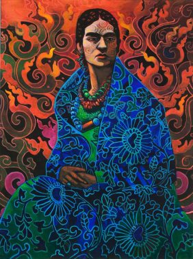 Frida-on-fire by
