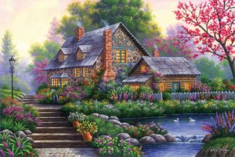 Cottage with a Pond by