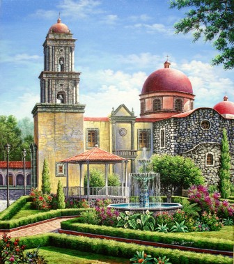 church-and-gardens-with-bandstand by Arturo Zarraga