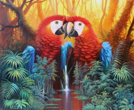 parrot-waterfall-fantasy