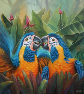 parrots-in-love by
