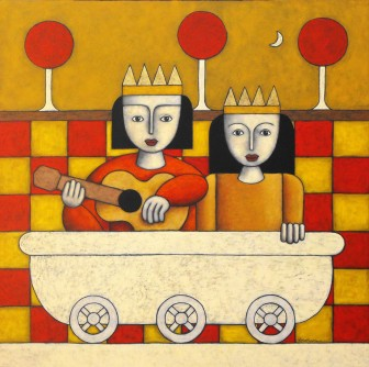 mythical-musicians-guitar-royalty by Víctor Peralta