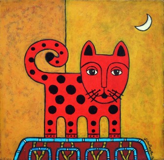 spotted-cat-with-moon by Víctor Peralta