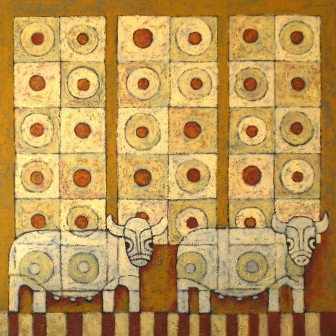 cattle-and-tiles by Víctor Peralta