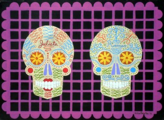 Romeo-and-Juliet-skulls-calaveras-Day-of-the-Dead by
